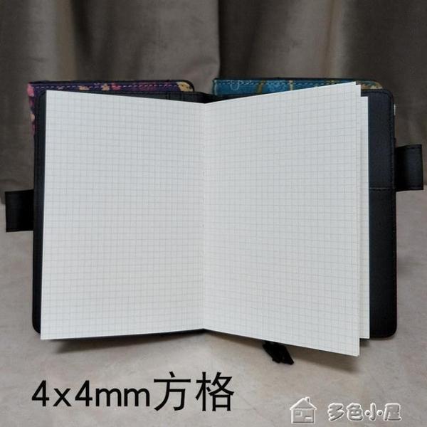 密碼本鐵文章魚網格本空白迷你日記本筆記本子手帳本記事本隨身便攜 多色小屋