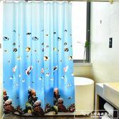 簡迪浴室浴簾伸縮桿套裝防水防霉遮擋門簾窗簾掛簾衛生間保暖隔簾『韓女王』