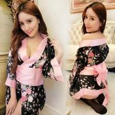性感日式印花和服 角色扮演出游戲制服誘惑套裝女式情趣內衣大碼