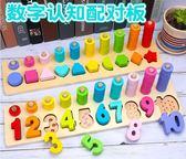 【雙十二】狂歡兒童數字認數玩具蒙氏早教益智形狀配對積木男孩2-3-4周歲女寶寶   易貨居
