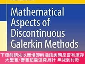 二手書博民逛書店Mathematical罕見Aspects Of Discontinuous Galerkin Methods