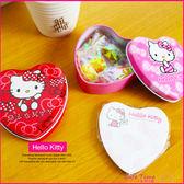 《最後3個》Hello Kitty 凱蒂貓 正版 愛心鐵盒 便條紙 C05012