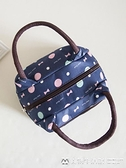 帆布包 加厚防水牛津帆布便當包手提小花布包手拎小包飯盒袋女休閒包 美物生活館