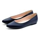karine(MIT台灣製)全真皮尖頭內增高楔型鞋-暗藍色