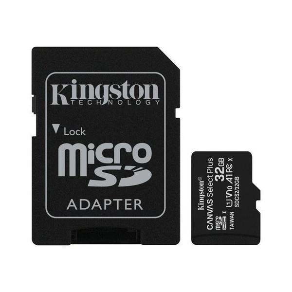 新風尚潮流 【SDCS2/32GB-2】 金士頓 記憶卡 32GB Micro-SD 含 Mini-SD 轉卡 MiniSD MicroSD 終身保固 A1 FullHD