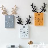 北歐簡約客廳掛鐘創意時尚個性藝術時鐘掛牆餐廳裝飾鐘電子鐘家用