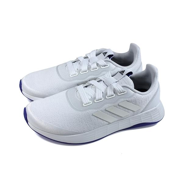 adidas QT RACER SPORT 運動鞋 跑鞋 女鞋 白色 FY5677 no915