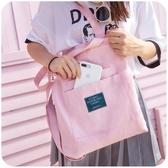 韓版帆布包包女大學生上課單肩包百搭斜挎布袋 原宿中包