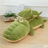 鱷魚睡覺抱枕毛絨玩具可愛懶人河馬公仔布娃娃玩偶兒童生日禮物女 印象家品