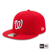 NEW ERA 59FIFTY 5950 MLB 球員帽 國民 _客場 紅 棒球帽