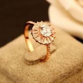 戒指 玫瑰金純銀 鑲鑽-奢華閃亮生日情人節禮物女飾品73by45[時尚巴黎]