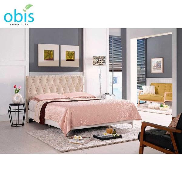 OB003-法莉嘉6尺雙人床(米黃布)(19CM/660-3)【DD House】