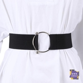 腰封 腰封束腰女士裝飾外搭復古鬆緊黑色寬腰帶簡約百搭時尚配洋裝子 2色【快速出貨】