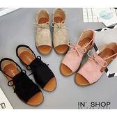 IN'SHOP涼鞋-清新氣質蝴蝶結質感低跟涼鞋-共3色【KF00870】