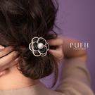 限量現貨◆PUFII-髮圈 小香風玫瑰髮...