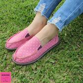 [ALMANDO-SHOES] 紫精靈點點帆布鞋/ 超輕量鞋/女休閒鞋