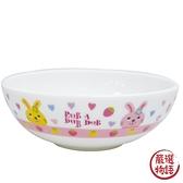 【日本製】【Rub a dub dub】輕巧瓷碗 兔子圖案 SD-9175 - Rubadubdub