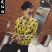 外套男韓版潮流襯衫帥氣薄款社會人精神小伙網紅夏季夾克新款