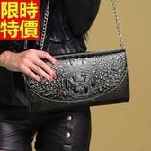 真皮手拿包-頂級奢華高檔風範鱷魚紋女信封包4色68k16【巴黎精品】