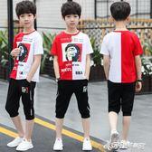 兒童男童夏裝套裝新款中大童夏季短袖男孩時尚休閒潮流兩件套  Cocoa