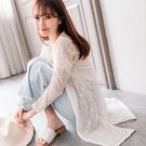 MIUSTAR 浪漫唯美!玫瑰蕾絲長外套(共2色)【NH0463RR】預購