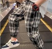 男童長褲 男童防蚊褲夏裝2021新款洋氣兒童褲子運動夏季格子薄款長褲兒童潮