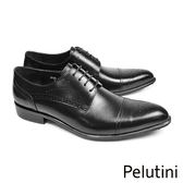 【Pelutini】橫飾雕花德比紳士鞋 黑色(8126-BL)