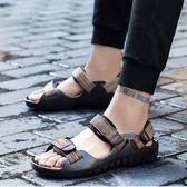 虧本衝量-羅馬鞋 學生戶外運動防滑厚底羅馬涼鞋男青年夏季男士涼鞋越南沙灘鞋 快速出貨