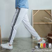 三線條運動束口褲【T20212】OBIYUAN 刷毛休閒褲/棉長褲 共5色
