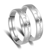戒指 女 韓版開口情侶指環 男女愛情閃電活口對戒鍍銀飾《小師妹》ps531