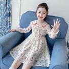 女童洋裝女童連身裙21春裝新款兒童韓版裙子中大童春秋洋氣女孩公主裙潮 快速出貨