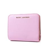 美國正品 MARC JACOBS 魚子醬皮革釦式短夾-粉色【現貨】
