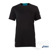 亞瑟士ASICS 男短袖T恤(黑/藍) 長版開衩設計 透氣乾爽 151405-0904【 胖媛的店 】