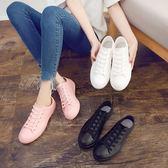 現貨出清 春秋休閒時尚雨鞋女韓國短筒防滑水鞋學生雨靴可愛防水鞋膠鞋9-18