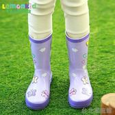 新~韓國天然橡膠兒童雨鞋 防水防滑學生男女童中大童卡通雨靴