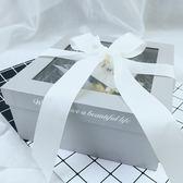 ins正方形禮品盒超大號伴手禮禮物盒鮮花包裝盒子