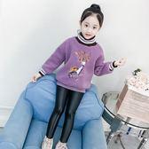 女童刷絨衛衣秋冬韓版童裝毛衣洋氣絨衫上著外套潮【奈良優品】