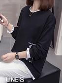 大碼女裝2020年秋冬裝新款韓版寬鬆連帽T恤洋氣胖妹妹遮肚子上衣顯瘦