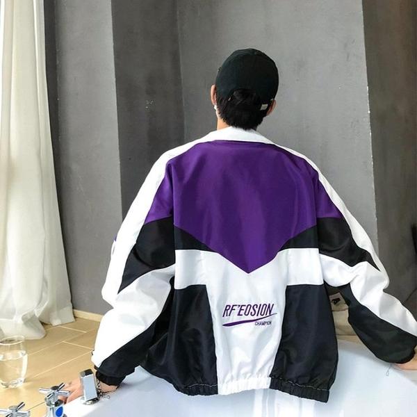 襯衫 港風外套情侶運動夾克港風學生正韓棒球服男女嘻哈寬鬆外套