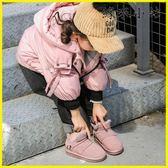 兒童棉鞋 冬款兒童真皮雪地靴男女童