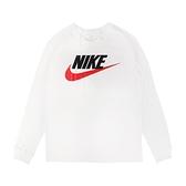 Nike 長袖T恤 NSW Icon Futura Tee 白 紅 男款 運動休閒 【ACS】 CI6292-102