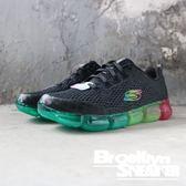 Skechers AIR 92 黑 彩虹氣墊 慢跑 女 (布魯克林)2019/2月13221BKMT