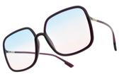 Dior 太陽眼鏡 SO STELLAIRE1 B3VAJ (深紫-漸層藍粉鏡片) 精緻優雅熱銷方框 墨鏡 #金橘眼鏡
