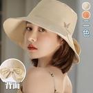 蝴蝶字母刺繡漁夫帽(2色)【995184W】【現+預】-流行前線-