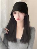 假發女短發水桶帽子假發一體女時尚潮流漁夫帽自然新式 花樣年華