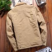 2019新款男士外套30-40歲35夾克休閒冬季加絨加厚牛仔秋冬裝男裝叢林之家