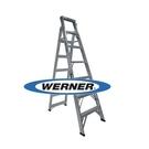 美國Werner穩耐安全鋁梯-DP367AZ 鋁合金兩用梯(梯長2.1m 荷重120公斤)    直梯 A字梯 直馬梯
