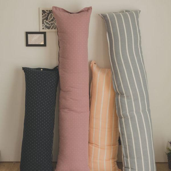 日式短抱枕(含枕芯) / M 35x100cm【多款任選】 無印良品風 ;ikea 客廳 沙發 靠墊 翔仔居家