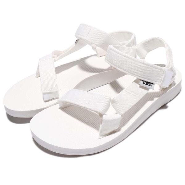 Teva 涼鞋 W Original Universal 全白 白色 綁帶 魔鬼氈 女鞋 戶外 休閒鞋 【ACS】 1003987BRWH