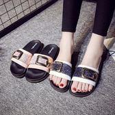 涼拖鞋女夏時尚個性室內日韓女士防滑厚底辦公室外穿夏天【夏日清涼好康購】